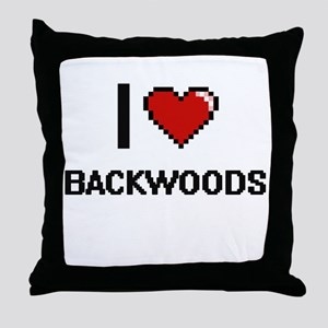 I Love Backwoods Digitial Design Throw Pillow