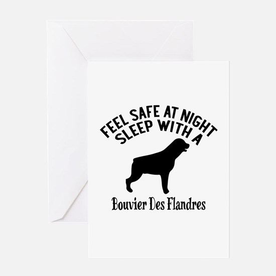 Sleep With Bouvier des Flandres Dog Greeting Card