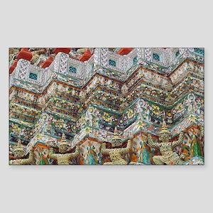 Wat Arun Temple Rectangle Sticker