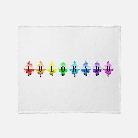 colorado diamonds Throw Blanket