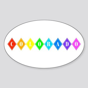colorado rainbow diamonds Sticker