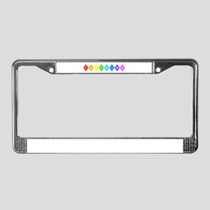 colorado rainbow diamonds License Plate Frame
