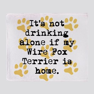If My Wire Fox Terrier Is Home Throw Blanket