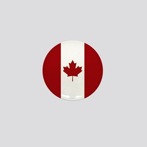Canada: Canadian Flag (Red & White) Mini Button