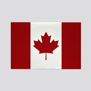 Canada: Canadian Flag (Red & Whit Rectangle Magnet