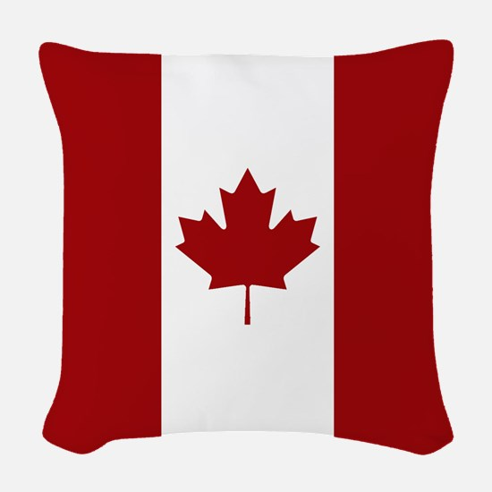 Canada: Canadian Flag (Red & W Woven Throw Pillow