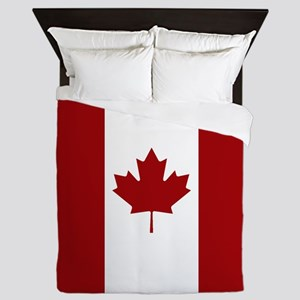 Canada: Canadian Flag (Red & White) Queen Duvet