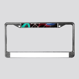 Atomic Time License Plate Frame