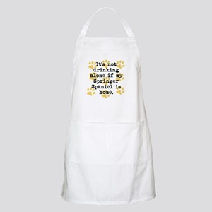 If My Springer Spaniel Is Home Apron