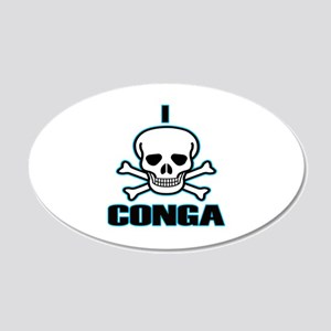 I Hate Conga 20x12 Oval Wall Decal
