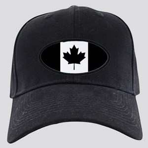 Canada: Black Military Flag Black Cap