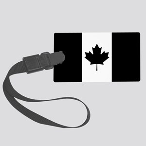 Canada: Black Military Flag Large Luggage Tag
