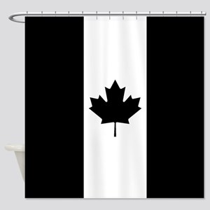 Canada: Black Military Flag Shower Curtain