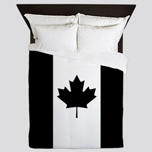 Canada: Black Military Flag Queen Duvet