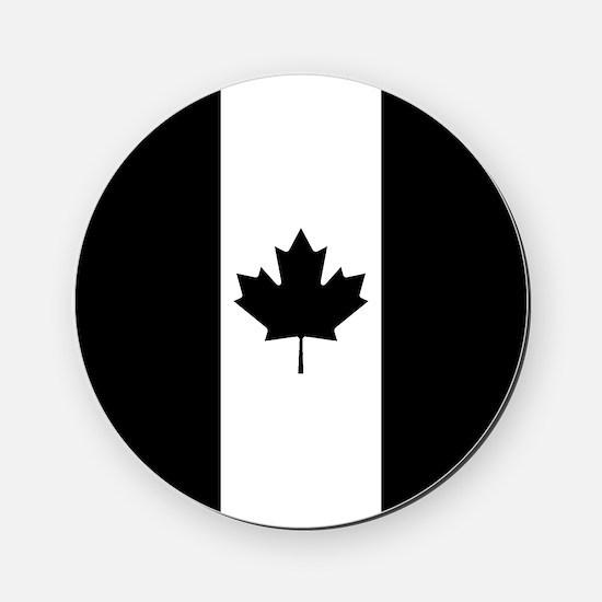 Canada: Black Military Flag Cork Coaster