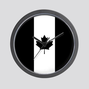 Canada: Black Military Flag Wall Clock