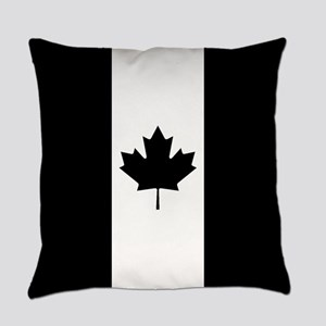 Canada: Black Military Flag Everyday Pillow