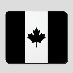Canada: Black Military Flag Mousepad
