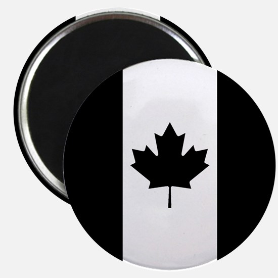 Canada: Black Military Flag Magnet