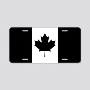 Canada: Black Military Flag Aluminum License Plate