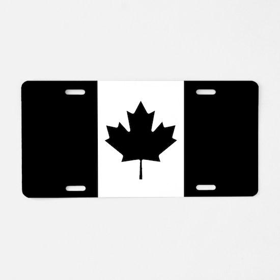 Canada: Black Military Flag Aluminum License Plate