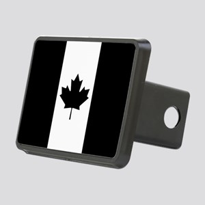 Canada: Black Military Fla Rectangular Hitch Cover