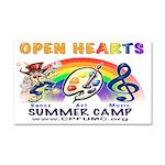 Open Hearts Car Magnet Car Magnet 20 X 12