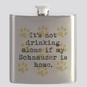 If My Schnauzer Is Home Flask
