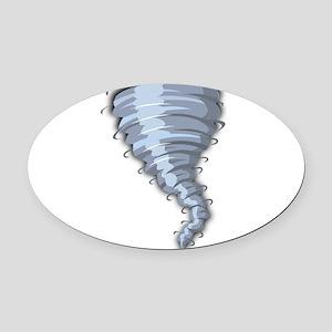 Tornado Oval Car Magnet