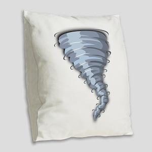 Tornado Burlap Throw Pillow