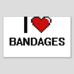 I Love Bandages Digitial Design Sticker