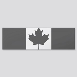 Canada: Black Military Flag (Clea Sticker (Bumper)