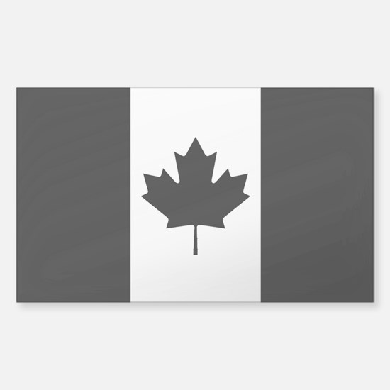 Canada: Black Military Flag (C Sticker (Rectangle)