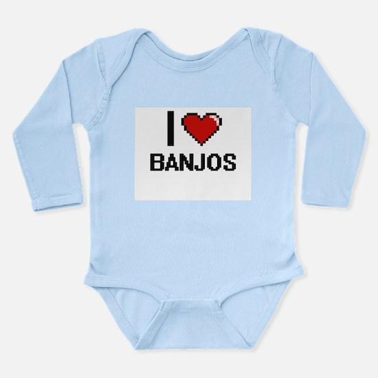 I Love Banjos Digitial Design Body Suit
