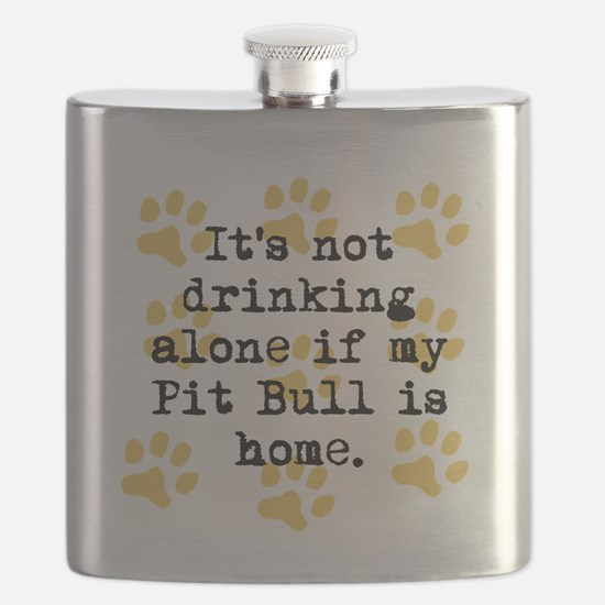 If My Pit Bull Is Home Flask