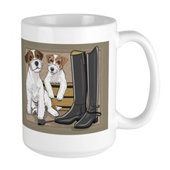 Russell Terriers with Background Mugs