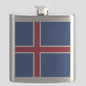 Square Icelandic Flag Flask
