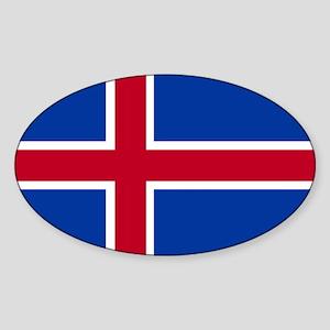 Square Icelandic Flag Sticker