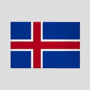 Square Icelandic Flag Magnets