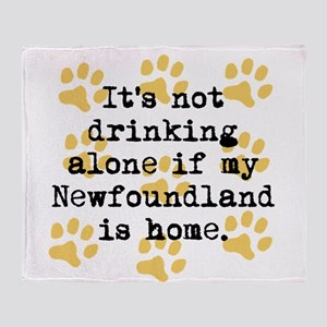 If My Newfoundland Is Home Throw Blanket