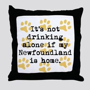 If My Newfoundland Is Home Throw Pillow