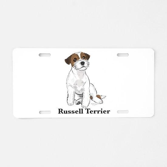 Cute Russell Aluminum License Plate