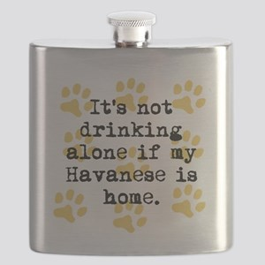 If My Havanese Is Home Flask