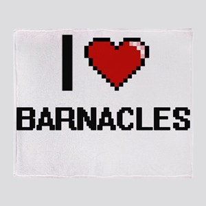 I Love Barnacles Digitial Design Throw Blanket