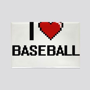 I Love Baseball Digitial Design Magnets