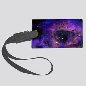 Purple Nebula Luggage Tag