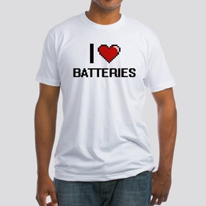 I Love Batteries Digitial Design T-Shirt