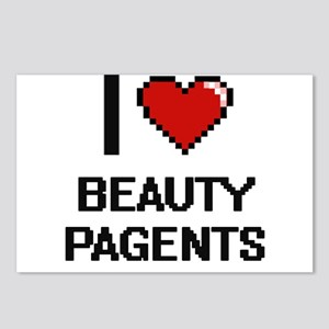 I Love Beauty Pagents Dig Postcards (Package of 8)