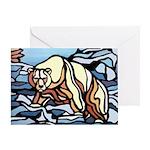 Polar Bear Art Greeting Card First Nations Art
