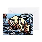 Polar Bear Art Greeting Card First Nations Art